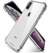 ZeKing Crystal Clear Anti-Scratch Clear Flexible TPU Silicone with Four Corner Bumper Protective Case Cover Compatible with iPhone Xs Max (6.5 inch) (Transparent)