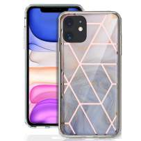 GDTOGRT iPhone 11 Case, Slim Marble Pattern Design Men Women Girls Hybrid Scratch Resistant Protective Hard Back Flexible TPU Rubber Silicone Bumper Cover Compatible iPhone 11 6.1 inch-Geometric W
