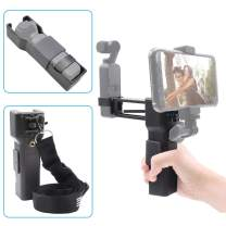 iEago RC 2 in 1 Handheld Z Axis Stabilizer Anti Shock Mini Vlog Monopod Stabilizer Carrying Case Smartphones Holder with Neck Lanyard for DJI OSMO Pocket
