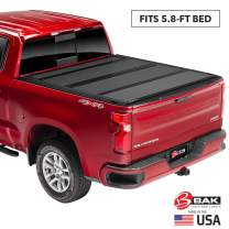 "BAK BAKFlip MX4 Hard Folding Truck Bed Tonneau Cover | 448120 | Fits 2014-18, 19 Limited/Legacy GM Silverado, Sierra: Limited/Legacy; 2014 1500, 15-19 ALL 5'8"" Bed"