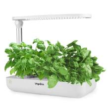 Vegebox Hydroponics Growing System - Indoor Herb Garden, Smart Garden Starter Kit with LED Grow Lights for Home Kitchen, Plant Germination Kits (9 pods, White)