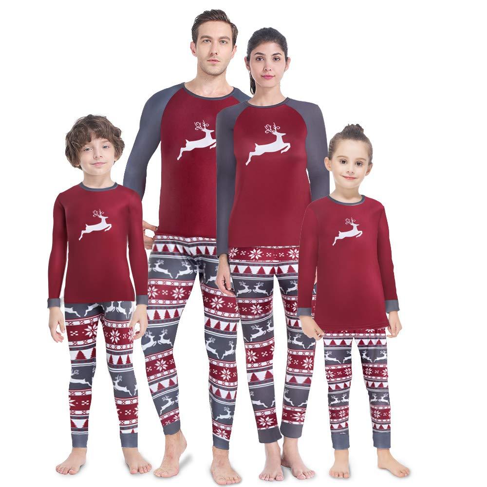MANCYFIT Family Christmas Pajamas Matching Set Fleece Lined Thermal Underwear