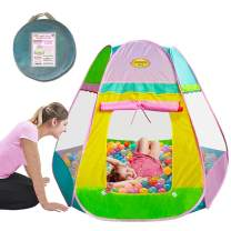 WOOHOO TOYS Large Kid Play Tent - Premium Pop Up Toy for Boys & Girls, Spacious Playhouse in Pastel Baby Colors, Can Even Be Used as Ball Pit, Safe for Children to Use Indoors & Outdoors