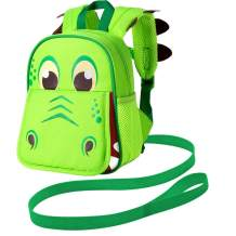 """Backpack Leash, 9.5"""" Toddler Dinosaur Bag - Harness Safety with Removable Tether"""