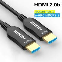 Fiber HDMI Cable 10ft 4K 60Hz, FURUI Fiber Optic HDMI 2.0b Cable HDR10, ARC, HDCP2.2, 3D, Dolby Vision, 18Gbps Subsampling 4:4:4/4:2:2/4:2:0 Slim and Flexible HDMI Fiber Optic Cable