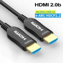 Fiber HDMI Cable 100ft 4K 60Hz, FURUI Fiber Optic HDMI 2.0b Cable HDR10, ARC, HDCP2.2, 3D, Dolby Vision, 18Gbps, Subsampling 4:4:4/4:2:2/4:2:0 Slim and Flexible HDMI Fiber Optic Cable