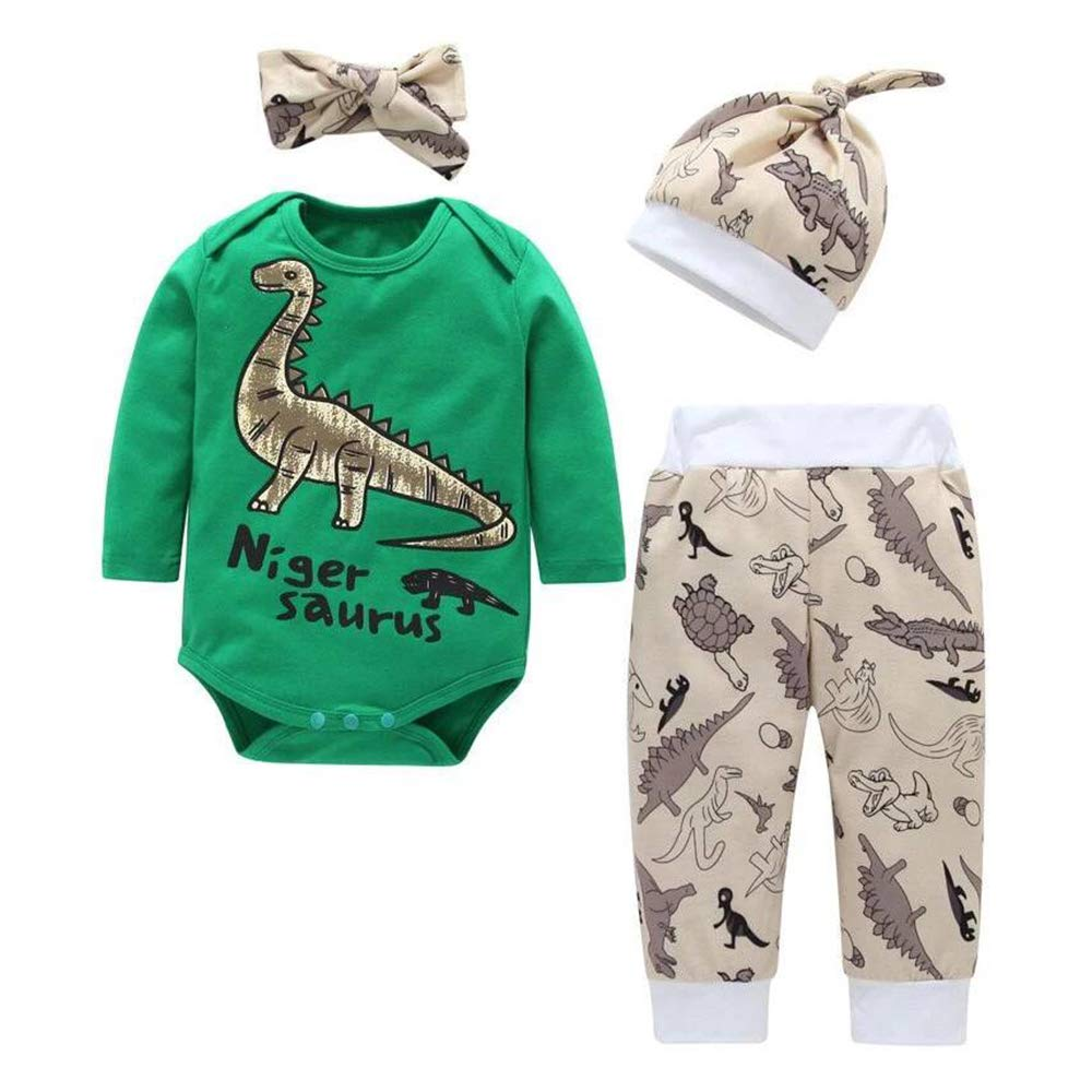 Baby Dinosaur Romper Newborn Boys Girls Long Sleeve Outfits One Piece Bodysuit Overalls Jumpsuit Clothes Sets