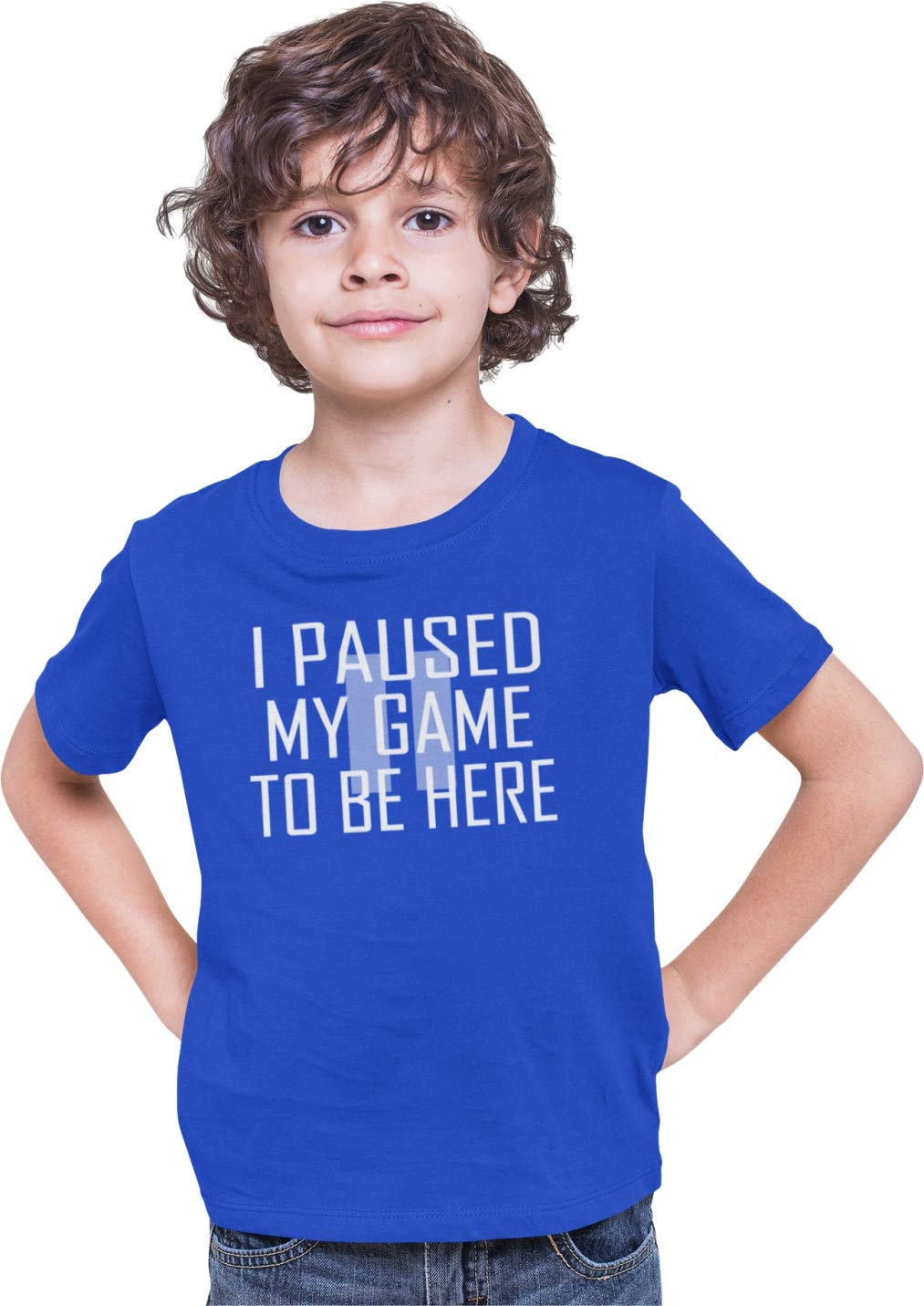 Go All Out Youth Classy I Paused My Game to Be Here T-Shirt