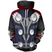 Super Hero Hoodie Super Hero Costume Creative Pullover Sweater Halloween Costume