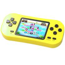 Beijue Retro Handheld Games for Kids Built in 218 Classic Old Style Electronic Game 2.5'' Screen 3.5MM Earphone Jack USB Rechargeable Portable Video Player Children Travel Holiday Entertain (Yellow)