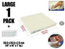Arrowzoom New 1 Piece of 14 X 14 X 1 Inches/35.5 X 35.5 X 2.5 cm Soft Density Upholstery Foam Cushion Sheet Padding AZ1137