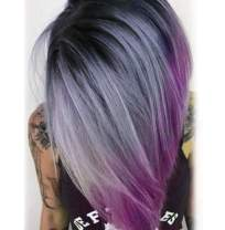 """aSulis Ombre Wigs Short Bob Wigs Purple Colorful Party Wig Synthetic Daily Wig for Women 13"""" ¡"""