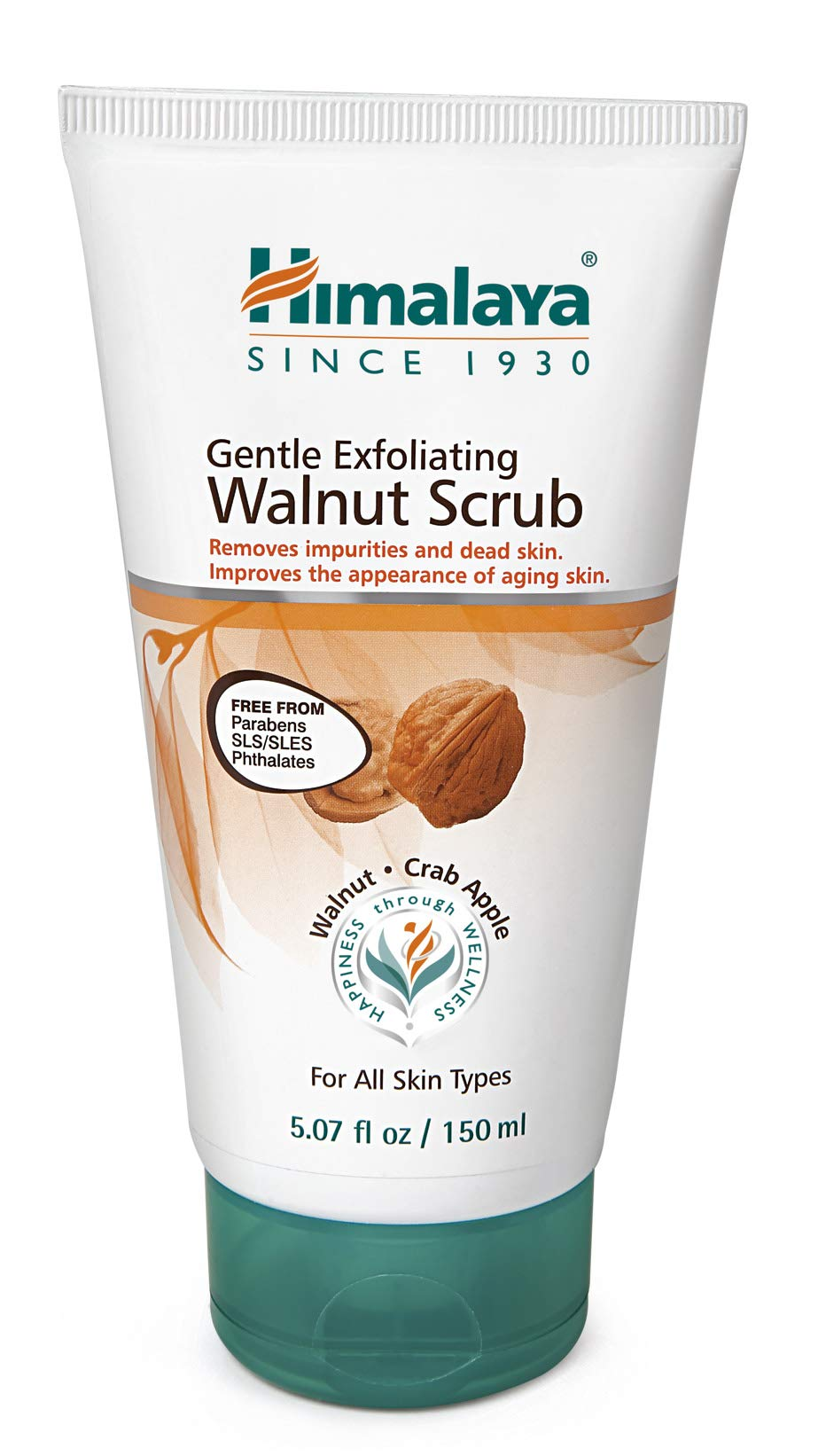 Himalaya Gentle Exfoliating Walnut Facial Scrub for Oily Skin, Free from Parabens, SLS/SLES and Phthalates 5.07 oz (150 ml)