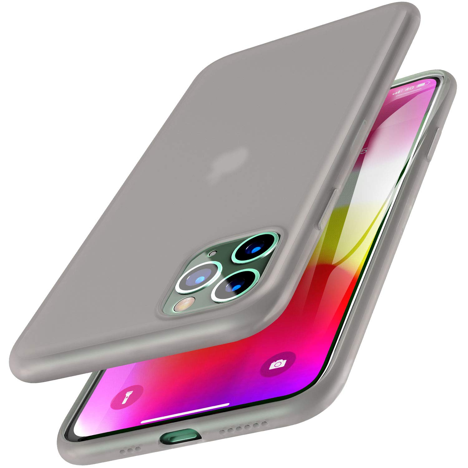 TOZO for iPhone 11 Pro Case 5.8 Inch (2019) Liquid Silicone Gel Rubber Shockproof Shell Ultra-Thin [Slim Fit] Soft 4 Side Full Protection Cover for iPhone 11 Pro (Semitransparent Black)
