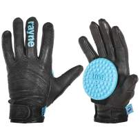 Rayne Longboards High Society Leather Slide Glove with Pucks - Black (Pair of 2)