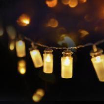 LED String light, Dailyart Vintage Glass Jar LED String Lights Mason Jar Fairy Lights, Battery Operated, 7.2ft