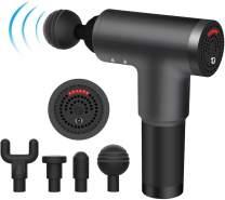 MKING Massage Gun,Cordless Handheld Deep Tissue&Muscle Massager, 6 Speeds Percussion Massage Device Super Quiet (Black)
