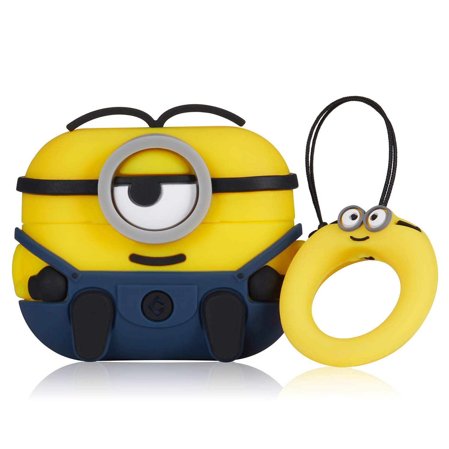Coralogo Case for Airpods Pro/3 Cute, 3D Animal Fashion Character Soft Silicone Cartoon Airpod Skin Funny Fun Cool Keychain Design Kids Teens Girls Boys Cover Cases Air pods 3 (Dark Blue One Eye)