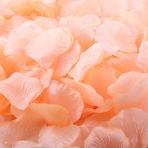 ocharzy 1000pcs Silk Rose Petals Wedding Flower Decoration (Tweed Pink)
