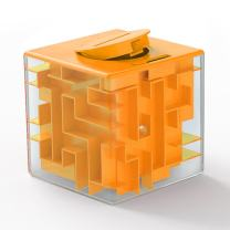 Money Maze Puzzle Box Gift- LightTheBo Money Puzzle, Funny and Cool Brain Teasers for Kids - Safe for Boys, Girls, Teens(Orange)