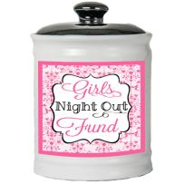 Cottage Creek Ladies Night Round Ceramic Girls Night Out Jar/Bachelorette Party Girls Night Box [White]