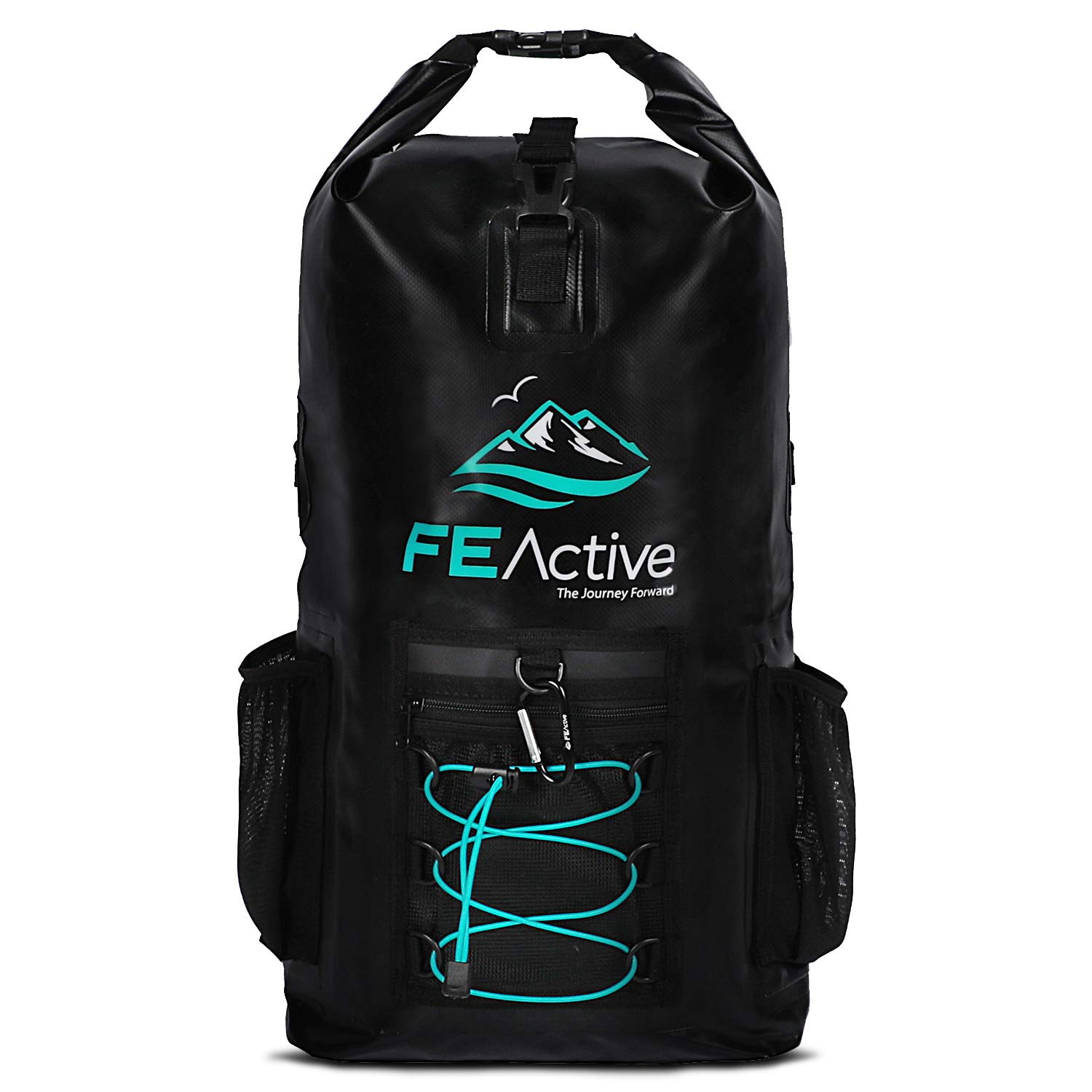FE Active Dry Bag Waterproof Backpack - 20L Eco Friendly Hiking Backpack. Ideal for Camping Accessories & Fishing Gear. Great Travel Bag, Beach Bag for Kayak & Boating | Designed in California, USA