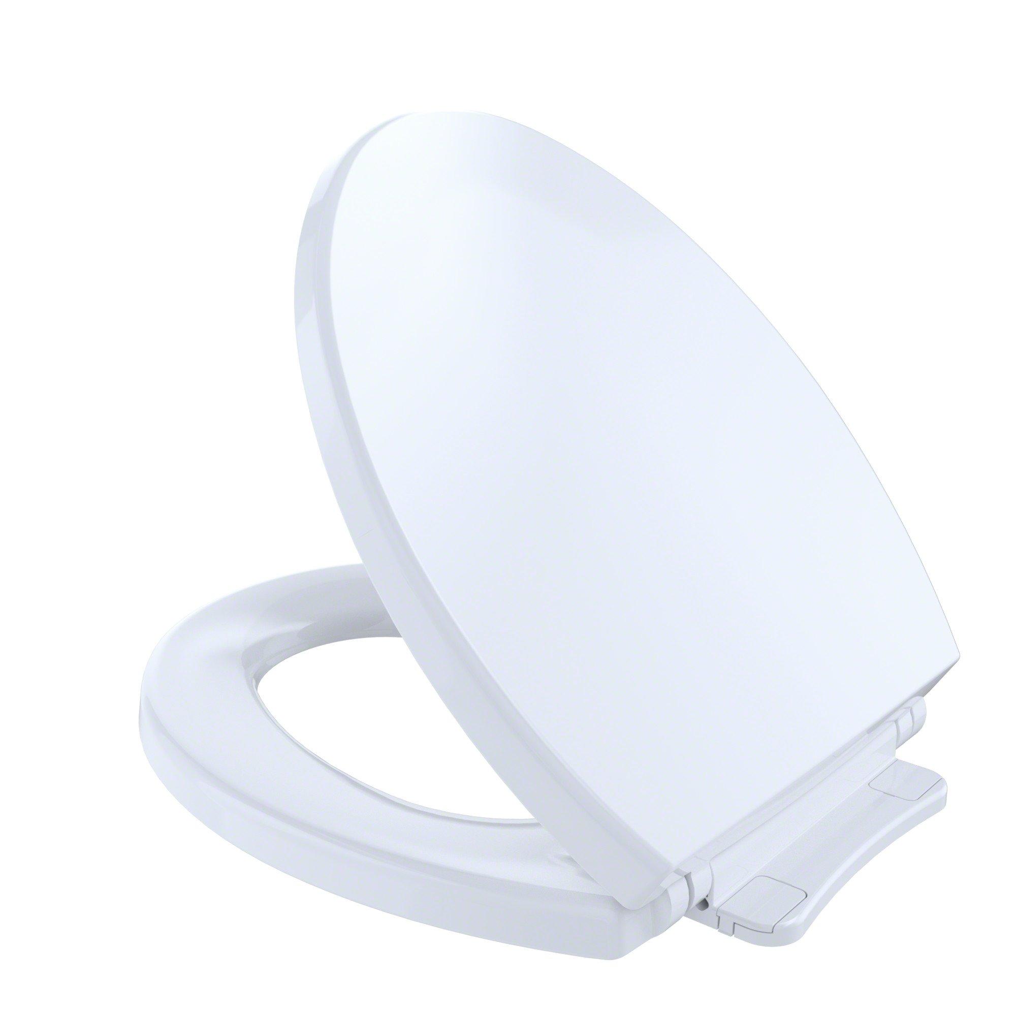 TOTO SS113#01 Transitional SoftClose Round Toilet Seat, Cotton White