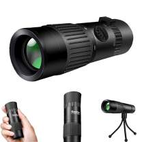 Monocular Telescope,10-100x21 Mini High Power Portable Compact Pocket HD BAK4 Prism Monocular with Weak Night Vision for Adults and Kids, Zoom Monocular Waterproof for Bird Watching,Hunting,Hiking.