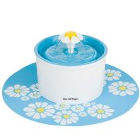 NO.7Artisan Pet Flower Fountain Automatic Electric Water Bowl with Filter and Silicone Mat for Dogs and Cats Birds Parrots