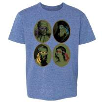Italian Renaissance Ninja Artists Parody Funny Youth Kids Girl Boy T-Shirt