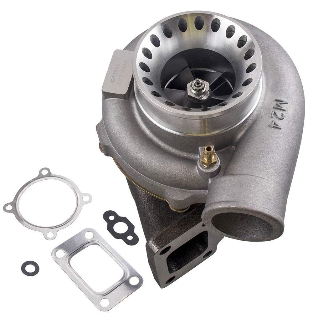 maXpeedingrods GT35 GT3582 GT3582R Turbo Anti-Surge Compressor AR.70/63 600HP, Universal Turbocharger External Wastegate T3 Flange for 2.5L-6.0L Engines Water + Oil Cooled