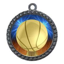 Express Medals 1 to 50 Packs Basketball Silver Medal Trophy Award with Neck Ribbon D212-D10