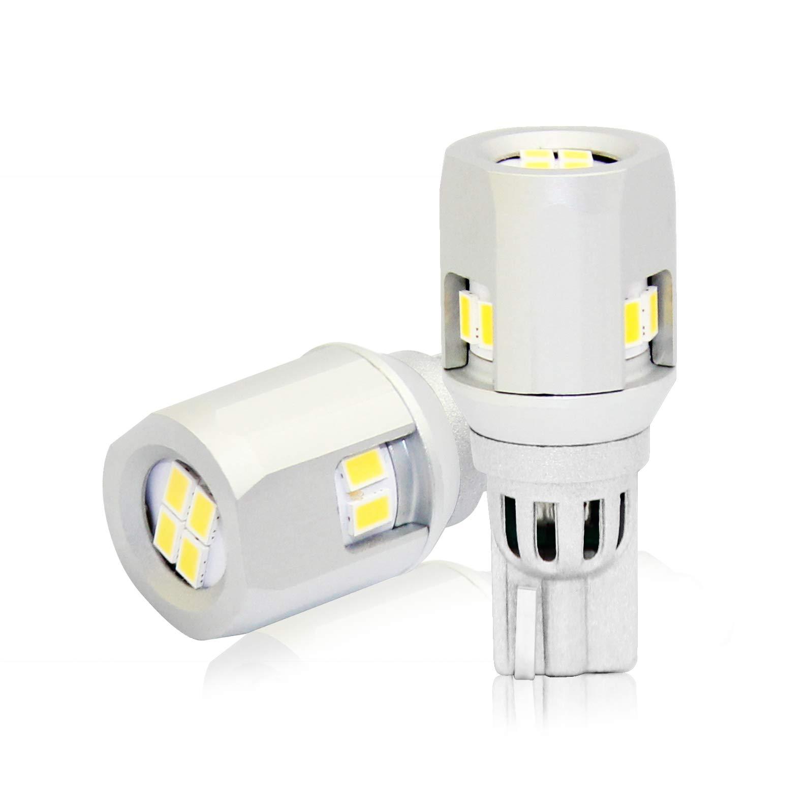 912 921 LED Backup Light Bulbs , D-Lumina High Power 904 Led 902 Bulbs 3030 10-SMD Chipsets Canbus Error Free T15 906 W16W for Back Up Lights Reverse Lights, 6000K White (2PCS/pack)