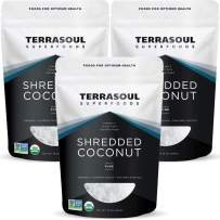 Terrasoul Superfoods Organic Coconut Flakes, 3 Lbs (3 Pack) - Finely Shredded | Macaroon Cut