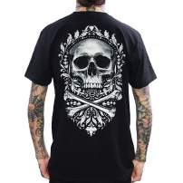 Skygraphx Mens Flourish of Death Skull T-Shirt