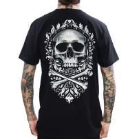 Skygraphx Mens Flourish of Death Skull T-Shirt