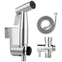 Handheld Bidet Sprayer for Toilet, 304 Stainless Steel Bathroom Bidet Sprayer Set Full Pressure & Leakproof Feminine Wash, Baby Cloth Sprayer and Shower Sprayer for Pet, Easy to Install Wall or Toilet