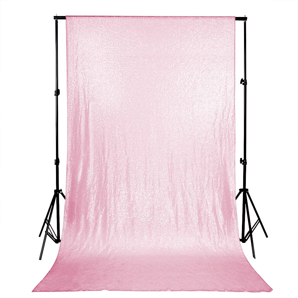 Glitter Backdrop Curtains Wedding Sequin Backdrop 4ftx6.5ft Pink Glitter Backdrop Stage Photography Decoration
