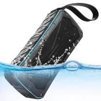ULBRE Portable Bluetooth Speakers IPX7 Waterproof Wireless 20W Enhanced Bass 12-H Playtime BT Speaker Support Hands-Free Calls, TF card, FM, Audio Input, Radio Antenna,Built-in MIC and Power Bank