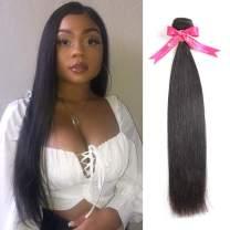 Alipearl Hair 100% Human Hair Bundles Brazilian Straight Hair Weave 1 Piece 8-30 Inches Natural Black Remy Hair Extensions Ali Pearl Hair(22)