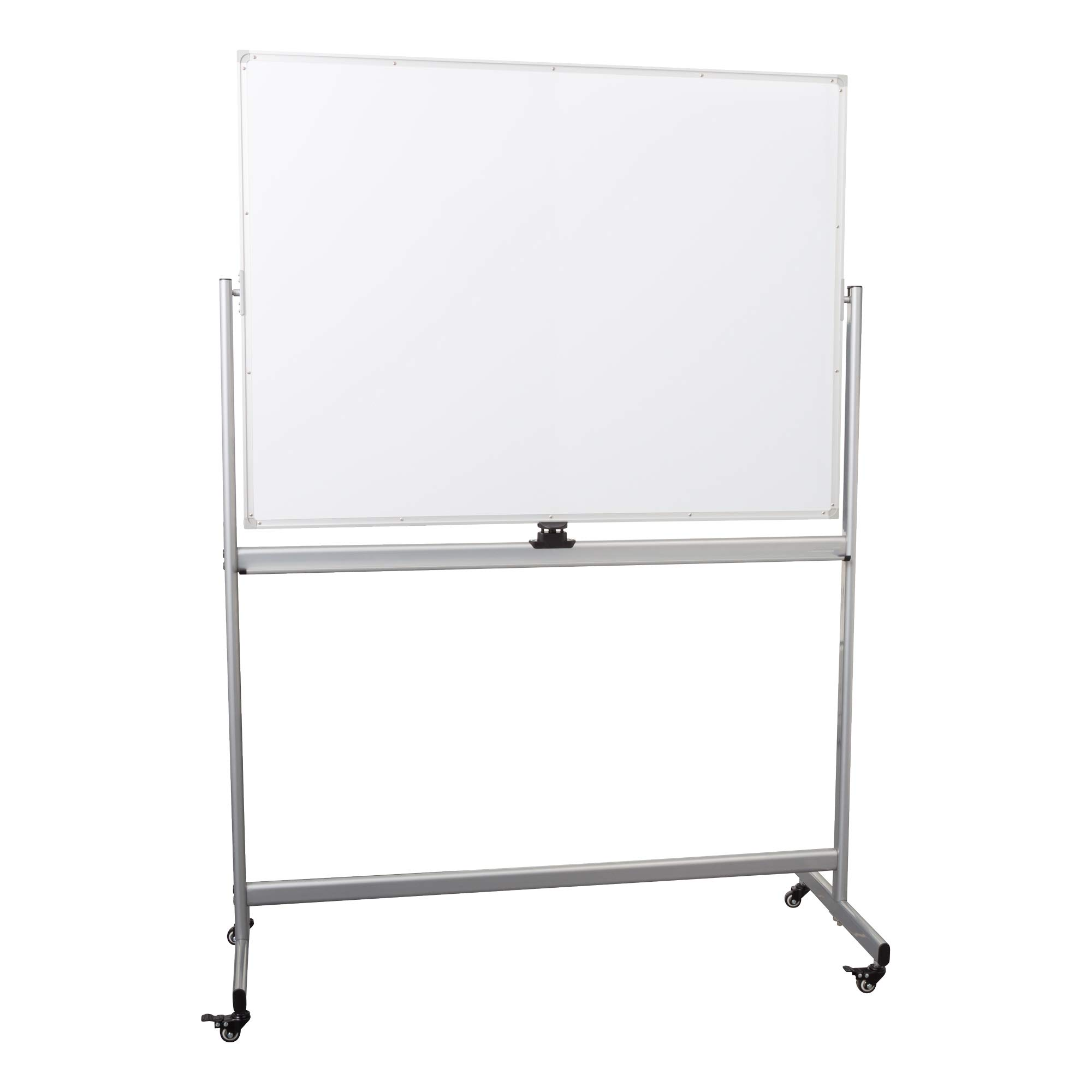 Learniture Double-Sided Mobile Magnetic Marker Board, 4' W x 3' H, White, LNT-RCE-3048-PK-SO