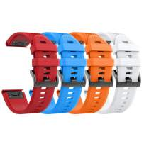 ANCOOL Compatible with Fenix 6 Bands Easy Fit Mechanism Silicone Watch Bands Replacement for Forerunner 935/Forerunner 945/Fenix 5/Fenix 5plus/Fenix 6/Fenix 6 Pro Smartwatches£¬ 4-Pack