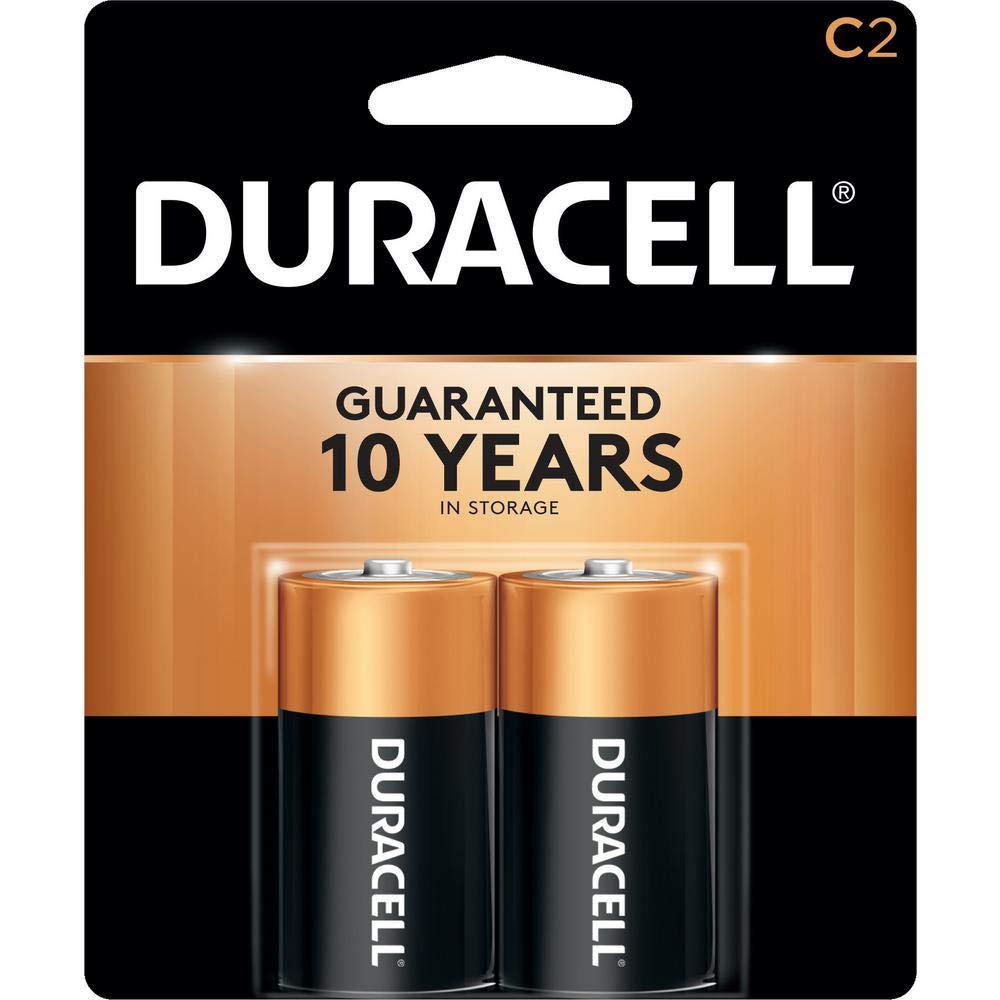 Duracell Coppertop C Batteries, Alkaline, 2 Count