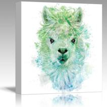 wall26 - Fun and Colorful Splattered Watercolor Llama - Canvas Art Home Decor - 24x24 inches