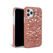 FELONY CASE iPhone 11 Pro Max Case Rose Gold Kaleidoscope Case - 3D Geometric 360° Shock Absorbing Protective iPhone 11 Pro Max Case Protects Screen & Body. Stylish iPhone Covers
