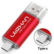 leizhan USB C Flash Drive 128GB Type-C Pen Drive for Huawei Type C Device Pendrive USB 3.0 High Speed Computer U Disk Red