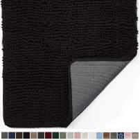 Gorilla Grip Original Indoor Durable Chenille Doormat, Large, 70x24, Absorbent, Machine Washable Inside Mats, Low-Profile Rug Doormats for Entry, Back Door, Mud Room Mat, High Traffic Areas, Black