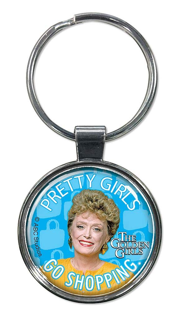 "Ata-Boy Golden Girls Characters 1.5"" Fob Keychain for Keys, Backpack Pulls and More"