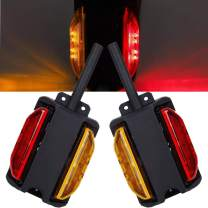 NEW SUN LED Trailer Fender Lights Pre-wired Dual Face LED Trailer Clearance Marker Lights Amber & Red - RH&LH