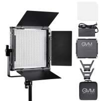 GVM Led Video Light Kit, Dimmable Bi-Color with Digital Screen 3200K~5600K High Brightness Video Lighting CRI 97+ TLCI 97+ Led Light Panel for YouTube Studio Outdoor Photography Video Shooting